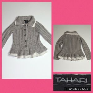 Adorable Tahari sweater for little girls size 6X